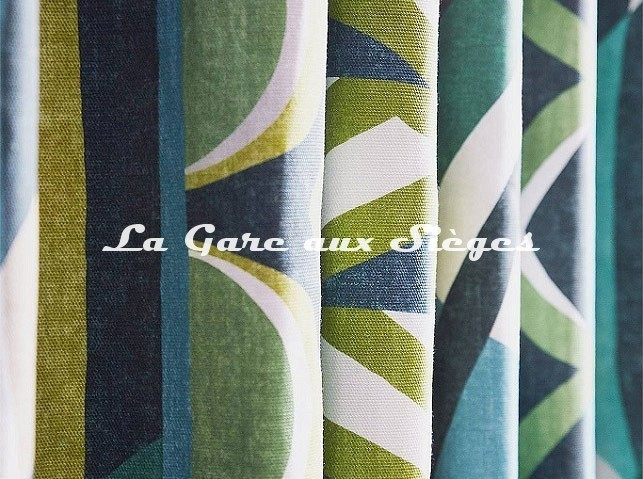 Tissu Harlequin - Atelier ( détail ) - Voir en grand
