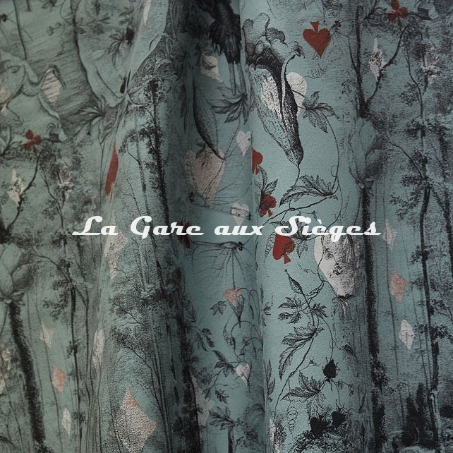 Tissu Jean Paul Gaultier - Tarot - réf: 3489.02 Céladon - Voir en grand