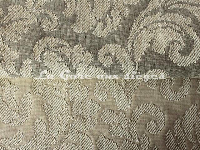 Tissu Chanée Ducrocq - Tatiana - Coloris: 7831 Mastic & 7828 Ecume - Voir en grand