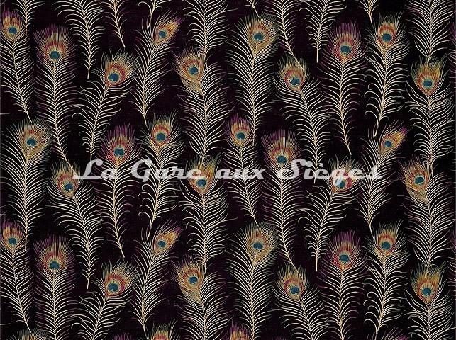 Tissu Sanderson - Themis - réf: DAEG222957 Carbon - Voir en grand