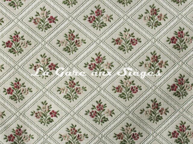 Tissu Chanée Ducrocq - Constance - réf: 6770 Rose Vert - Voir en grand