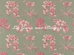 Tissu Sanderson - Etching & Roses - réf: DPFPET205 Pewter - Voir en grand
