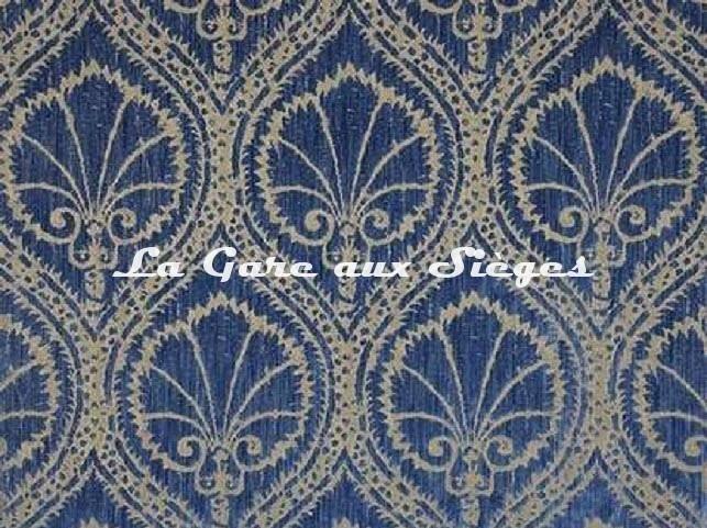 Velours Fadini Borghi - Sforza - réf: I5004.003 Bleu - Voir en grand