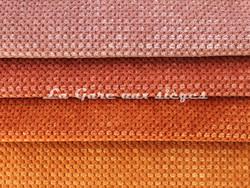 Tissu Chanée Ducrocq - Caviar - Coloris: 2483 Vieux rose - 2473 Corail - 2474 Rouille - 2475 Ambre - Voir en grand