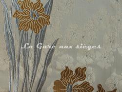 Tissu Verel de Belval - Narcisses - réf: 99102-005 Ciel - Voir en grand