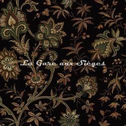 Tissu House of Hackney - Indienne jacquard - réf: 8812 Black - Voir en grand