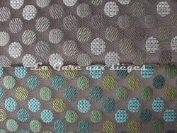 Tissu Deschemaker - Marantz - réf: 103801 Marron glacé & 103805 turquoise (supprimé) - Voir en grand