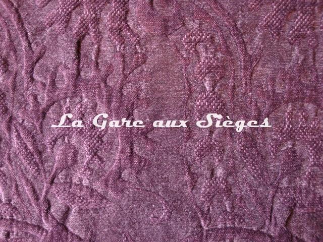Tissu Dominique Kieffer - Damas - réf: 17116 - Coloris: 05 Lie de vin - Voir en grand