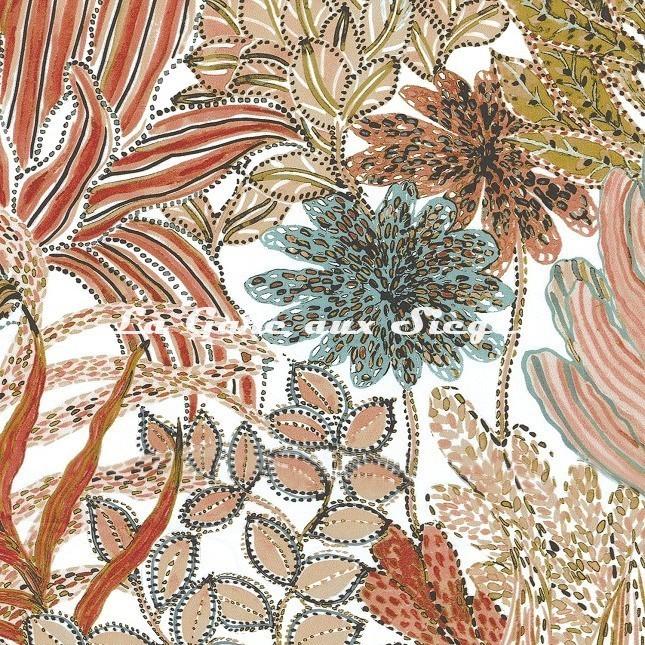 Tissu Casamance - Paradou - réf: 4234.0225 Rose Blush - Voir en grand