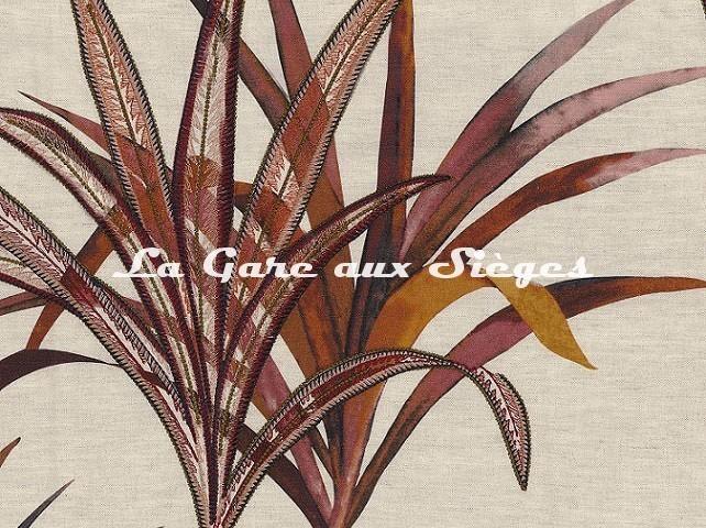 Tissu Casamance - Création - réf: 4221.0108 Rose/Magenta - Voir en grand