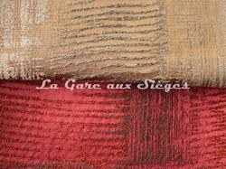 Tissu Casamance - Adage - réf: 3787.0388 Mordoré & 3787.0456 Carmin - Voir en grand