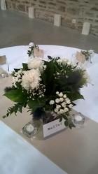 centre de table mariage champetre bleu - Voir en grand