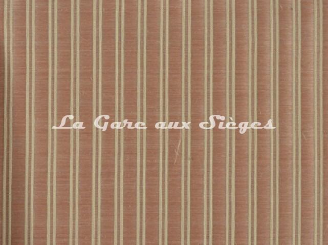 Tissu Le Crin - Christiane 100 - réf: C0100 - Coloris: 089 Rose/Beige - Voir en grand