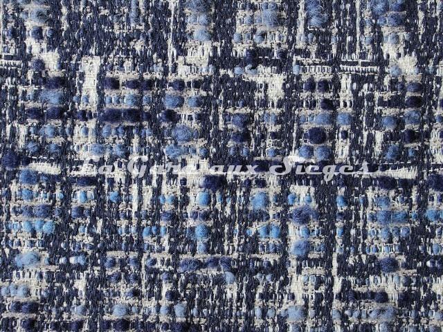 Tissu Osborne & Little - Oakley - réf: F7064-02 Blue/Neutral - Voir en grand