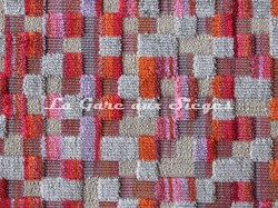 Tissu Deschemaker - Bogota - réf: 103977 Cerise - Voir en grand