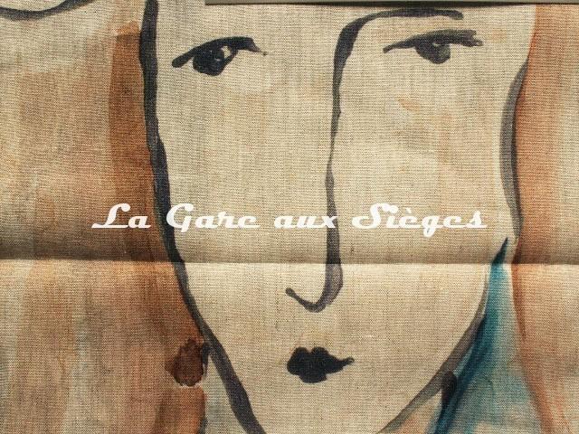 Tissu Zoffany - Les Dames - réf: 322675 Peacock/Copper ( détail ) - Voir en grand
