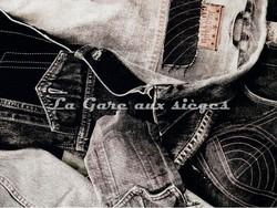 Tissu Jean Paul Gaultier - On the Road - réf: 3449-02 Graphite - Voir en grand