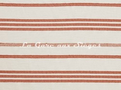 Tissu Lelièvre - Marina - réf: 573.01 Terracotta - Voir en grand