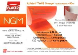 Adhésif toilé Orange - Adhésif toilé Orange - NGM négoce en gros de materiaux de construction - Voir en grand