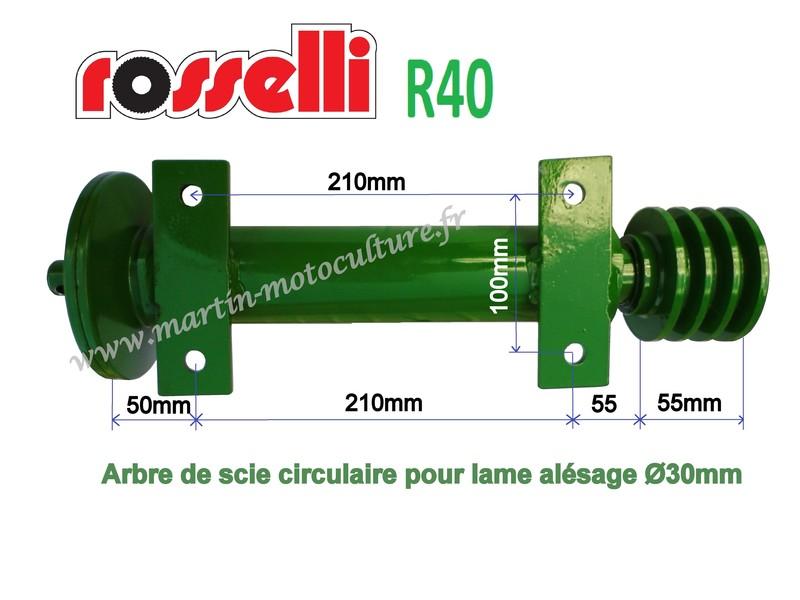 Arbre Complet Pour Scie Circulaire Martin Motoculture