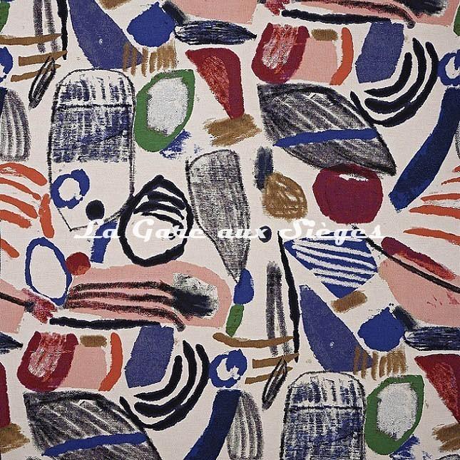Tissu Pierre Frey - La Toile du Peintre - réf: F3528.001 - Voir en grand
