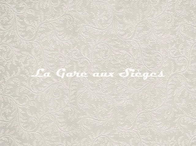 Tissu Braquenié - Agrippine - réf: B7588.001 Crème - Voir en grand