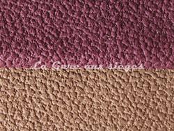Tissu Chanée Ducrocq - Granit - Coloris: 1511 Aubergine - 1529 Havane - Voir en grand