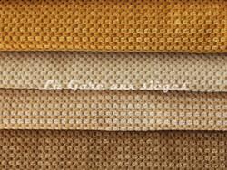 Tissu Chanée Ducrocq - Caviar - Coloris: 2476 Safran - 2487 Ivoire - 2488 Sable - 2489 Beige - Voir en grand