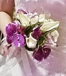 bouquet de marièe rond original fushia - Voir en grand