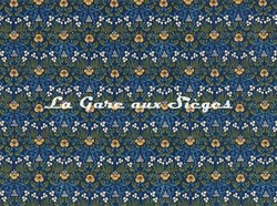 Tissu William Morris - Eye Bright - réf: 226597 Indigo - Voir en grand