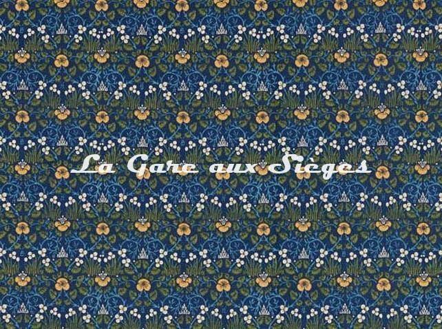 Tissu William Morris - Eye Bright - réf: 226597 Indigo - Voir en grand