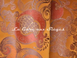 Tissu Tassinari & Châtel - Lampas Ispahan - réf: 1687-03 Ambre - Voir en grand