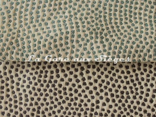 Tissu Jean Paul Gaultier - Escale - réf: 3473 - Coloris: 08 Ciel & 09 Marine - Voir en grand