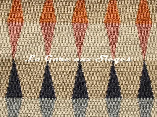 Tissu Harlequin - Ampico - réf: 132093 Tangerine/Sky/Nude ( détail ) - Voir en grand