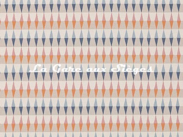Tissu Harlequin - Ampico - réf: 132093 Tangerine/Sky/Nude - Voir en grand