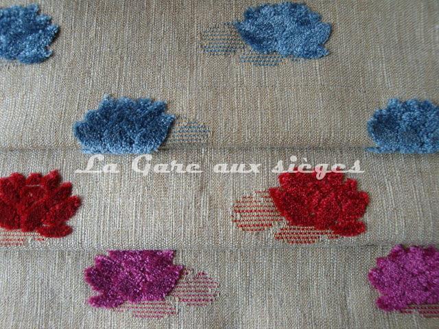 Tissu Jéro - Mascotte - réf: 9508 - Coloris: 1742 Saphir - 1743 Sorbier - 1744 Violette - Voir en grand