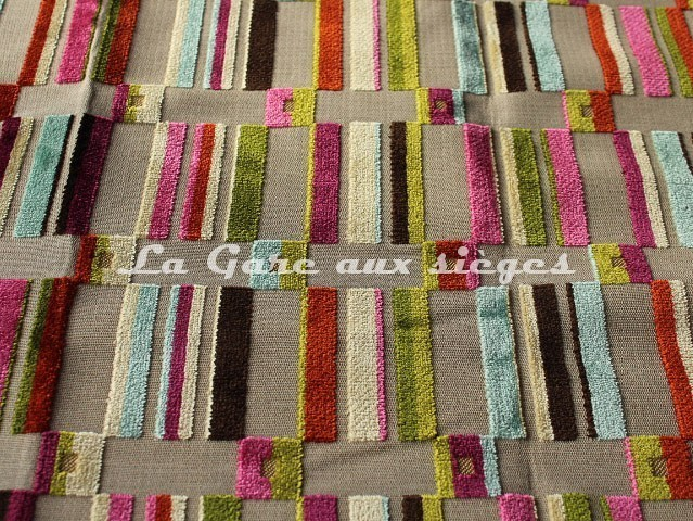 Tissu Deschemaker - Brazil - réf: 103632 Multicolore - Voir en grand