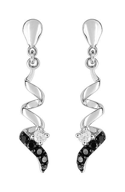 boucles d'oreilles pendantes noir