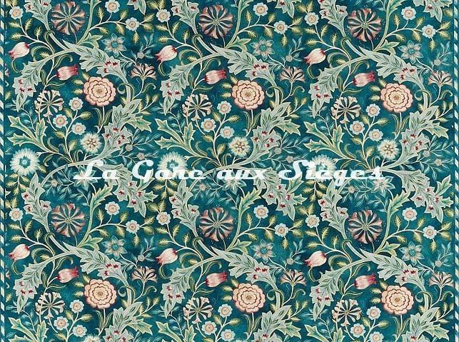 Tissu William Morris - Wilhelmina - réf: 226604 Teal - Voir en grand