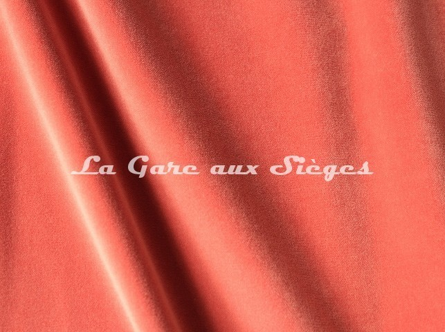 Tissu Pierre Frey - Velours Fine - réf: F3210.028 Pêche - Voir en grand