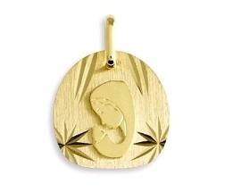 medaille vierge or jaune 9 carats 0.90 grs 124 ¤            - Voir en grand