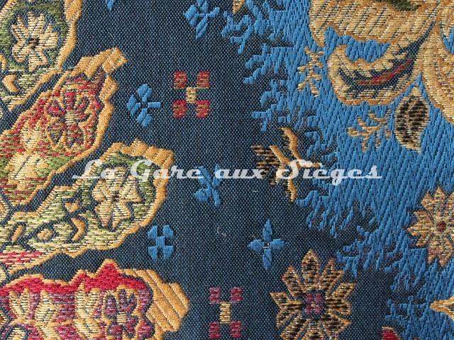 Tissu Pierre Frey - Moskova - réf: F2396-129 Bleu drapeau - Voir en grand