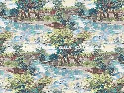 Tissu Casal - Cézanne - réf: 30409.1432 Bleu végétal - Voir en grand