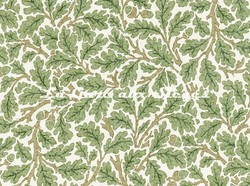 Tissu William Morris - Oak - réf: 226606 Forest/Cream ( détail ) - Voir en grand