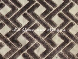 Tissu Casamance - Velours Magnum - réf: 3656.0469 Taupe - Voir en grand