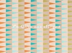 Tissu Harlequin - Azul - réf: 132015 Emerald/Tangerine/Lime - Voir en grand