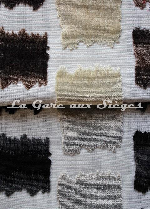 Tissu Jéro - Aquarelle - réf: 9631 - Coloris: 06 Marron & 07 Noir - Voir en grand