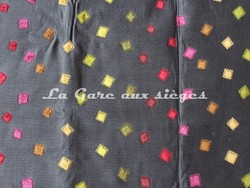 Tissu Deschemaker - Santiago - réf: 103951 - Coloris: Réglisse - Voir en grand