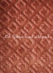Tissu Chanée Ducrocq - Velours gaufré Matignon - Coloris: 980 Tamaris