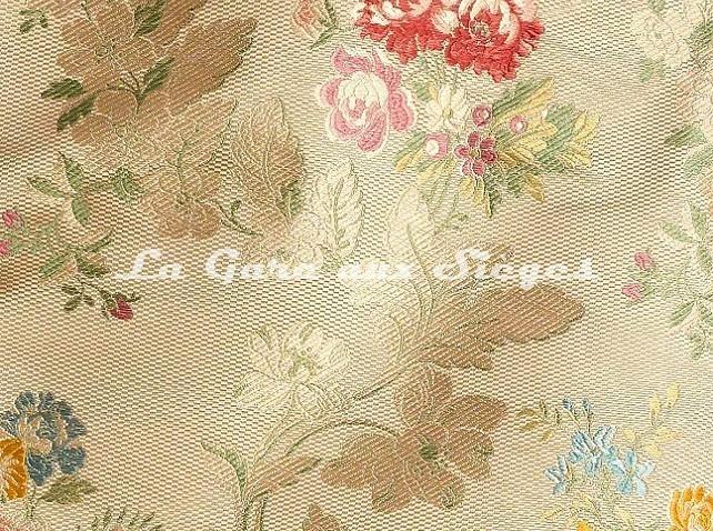Tissu Tassinari & Châtel - Lampas Pompadour - réf: 1678-01 Ivoire - Voir en grand